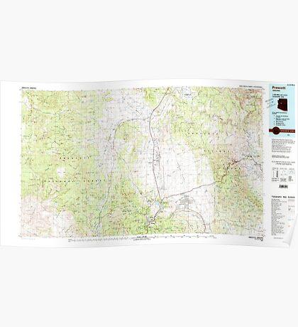 USGS TOPO Map Arizona AZ Prescott 315292 1981 100000 Poster