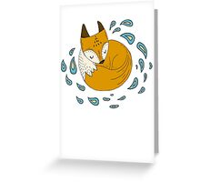 Sleepy fox Greeting Card