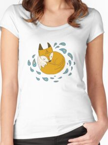 Sleepy fox Women's Fitted Scoop T-Shirt