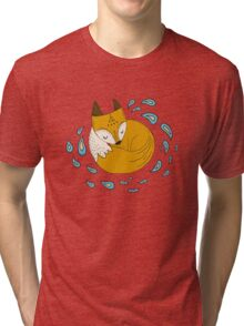 Sleepy fox Tri-blend T-Shirt