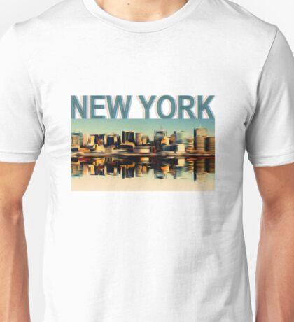 Vintage Manhattan Skyline, New York City - T-Shirt design Unisex T-Shirt