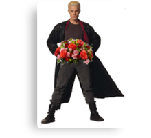 the big bad's back, and hes got flowers! Canvas Print
