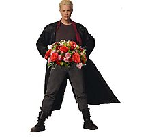 the big bad's back, and hes got flowers! Photographic Print