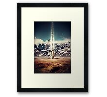 Struck By Gravity Framed Print