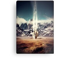 Struck By Gravity Metal Print