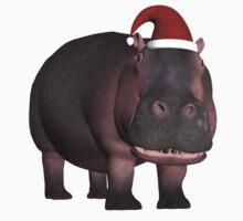Hippo In Christmas Mood Kids Tee