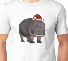 Hippo In Christmas Mood Unisex T-Shirt