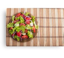 Top view of vegetarian salad from fresh vegetables Canvas Print