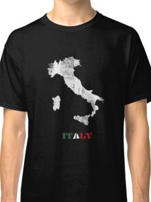 Italy map Classic T-Shirt