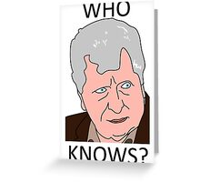 The Curator - Tom Baker Doctor Who Greeting Card