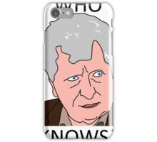 The Curator - Tom Baker Doctor Who iPhone Case/Skin