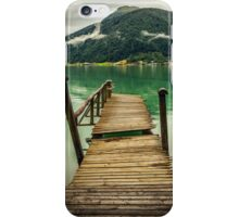 Pontoon by the fjord iPhone Case/Skin