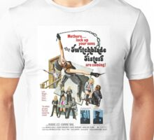 Switchblade Sisters Alt 2 (Blue) Unisex T-Shirt