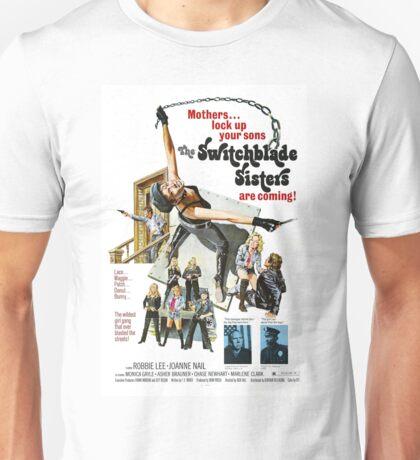 Switchblade Sisters Alt 2 (Blue) Unisex T-Shirt