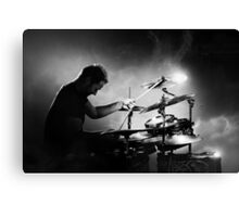 Drummer playing drums Canvas Print