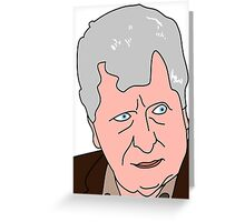 The Curator - Tom Baker Doctor Who 2 Greeting Card