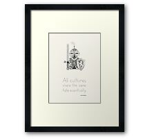Medieval - All Cultures Share the Same Fate Eventually Framed Print