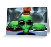 Whack 'A' Alien Greeting Card