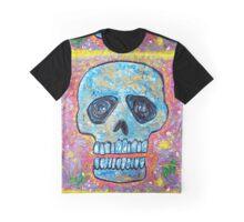Marble Skull Graphic T-Shirt