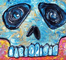 Marble Skull Sticker