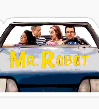 Mr Robot - Sitcom '80s '90s Sticker