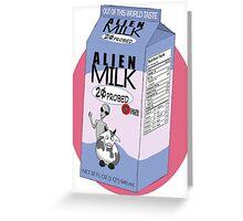 Alien Milk Greeting Card
