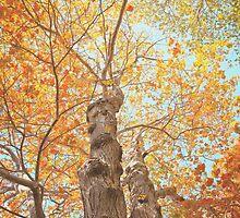 Autumn Inkblot by Debbra Obertanec