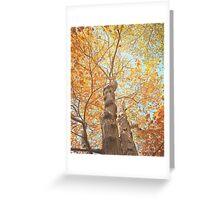 Autumn Inkblot Greeting Card