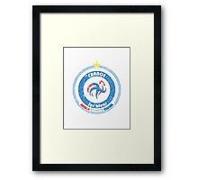 World Cup Football 7/8 - Team France (distressed) Framed Print