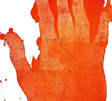 Detailed Orange Hand by RobinLeverton