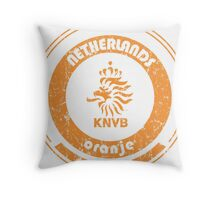 World Cup Football - Team Netherlands (distressed) Throw Pillow