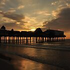 Dark Roast Coffee Pier Sunrise by Poete100