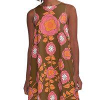 Retro Flowers A-Line Dress