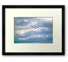 Emerging From The Smoke Trail Framed Print