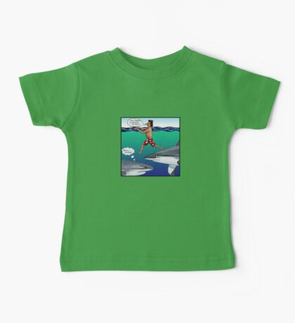 Chickens and Sharks Baby Tee