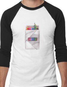 box of crayons. color pencil Men's Baseball ¾ T-Shirt