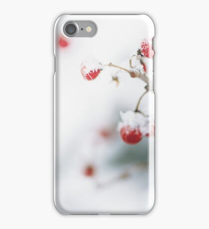 Winter Red Berries iPhone Case/Skin