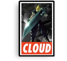 (FINAL FANTASY) Cloud In Game  Canvas Print