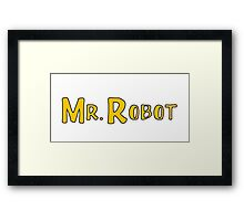 Mr Robot - Sitcom '80s '90s Framed Print