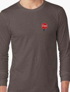 Stop Sign With Bullet Holes Long Sleeve T-Shirt