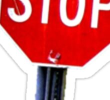 Stop Sign With Bullet Holes Sticker