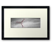Red Arrows Over Falmouth Cornwall Framed Print