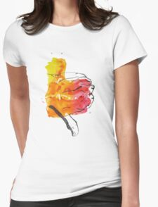 Thumbs Down Womens Fitted T-Shirt