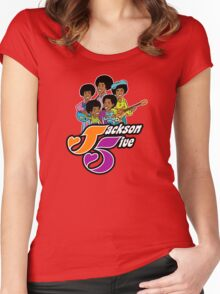 J-5 Women's Fitted Scoop T-Shirt