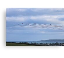 The Red Arrows Falmouth Week 2016 Canvas Print