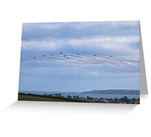 The Red Arrows Falmouth Week 2016 Greeting Card