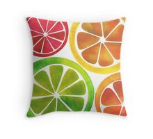 A Burst of Citrus Throw Pillow