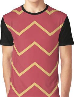 Chevron Gold Coral Pattern Graphic T-Shirt