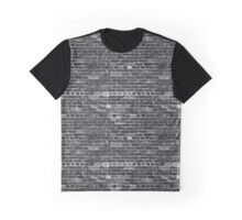 Black and white brick wall Graphic T-Shirt