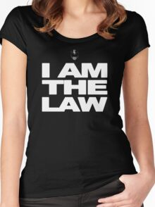 I am the Law! Women's Fitted Scoop T-Shirt
